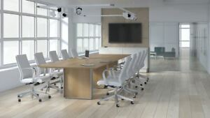 Quorum 12 Rectangular Conference Table With Knife Edge