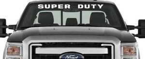2 X Super Duty Windshield Window 36 X2 70 Banner Decal Universal Fits Ford