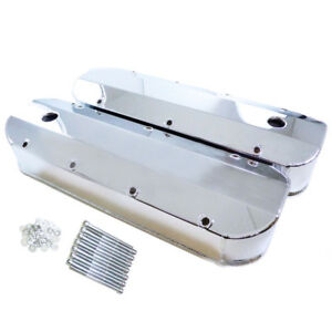 6243c Chrome Fabricated Aluminum Valve Cover 396 427 454 502 Tall Bbc