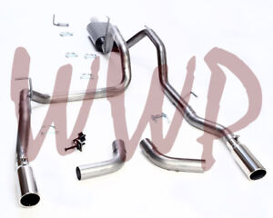 Dual Stainless Cat Back Exhaust System Kit 06 08 Dodge Ram 1500 5 7l Hemi Pickup