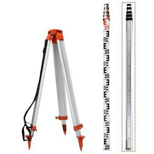 5m Staff 1 65m Aluminum Tripod For Laser Level Levelling Construction Measuring