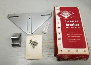1933 1934 1935 Plymouth Dodge Desoto Chrysler Nos License Plate Bracket Mopar