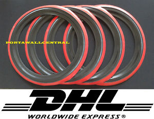 Vintage Style15 Black Red Wall Port A Walls Tyre Insert Set Of4