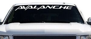 1 Avalanche Front Windshield Banner Decal Fits Chevy Avalanche 4 X 40