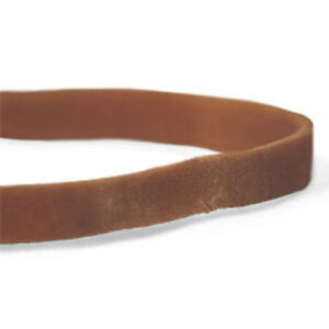 Cwc 33 Rubber Bands 33 3 1 2 X 1 8 Brown Crepe pack Of 25 Boxes