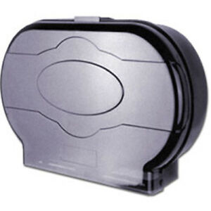 Cwc Smoke Jumbo Twin Roll Toilet Paper Dispenser