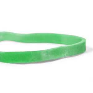 Cwc 33 Rubber Bands 33 3 1 2 X 1 8 Green Crepe pack Of 25 Boxes