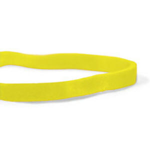 Cwc 33 Rubber Bands 33 3 1 2 X 1 8 Yellow Crepe pack Of 25 Boxes