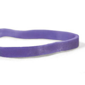 Cwc 33 Rubber Bands 33 3 1 2 X 1 8 Purple Crepe pack Of 25 Boxes