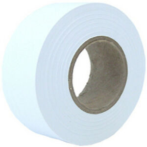 Cwc Flourescent Flagging Tape 2 Mil 1 3 16 X 300 White pack Of 12 Rolls