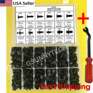 330 Clips Push Pins Retainers Assortment For Gm Ford Toyota Honda Screwdriver