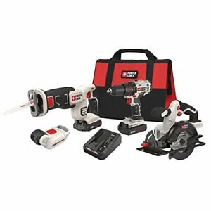 Porter cable Pcck616l4 20v Max Lithium Ion 4 tool Combo Kit