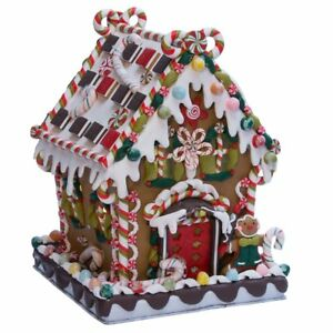 Kurt Adler 8 5 8 inch Claydough And Metal Candy House With C7 Ul Lighted
