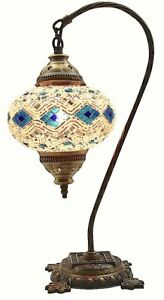 Table Lamp swan Neck lamp Shade arabian Mosaic Lamps Moroccan Lantern