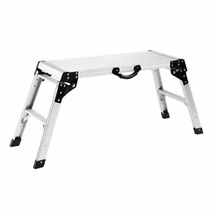 Finether Aluminum Work Platform Drywall Step Up Folding Work Bench portable