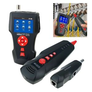 Ethernet Tester Stp utp 5e 6e Coaxial Cable Length Meter Wire Tracker Poe Ping