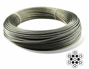Muzata Stainless Aircraft Steel Wire Rope Cable For Railing decking Diy