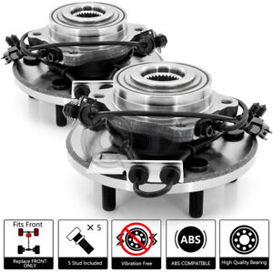 2x 2007 2008 Chrysler Pacifica Front Wheel Hub Replacement W Bearing Abs Stud