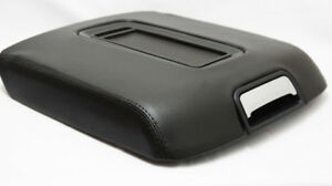 Real Leather Black Center Console Lid Armrest Cover Fit 15 18 Chevy Tahoe Yukon