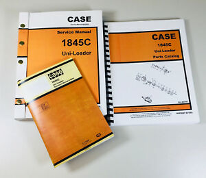 Case 1845c Uni loader Skid Steer Service Parts Operators Manual
