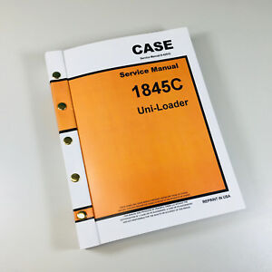 Case 1845c Uni loader Skidsteer Service Repair Manual Technical Shop Book Ovrhl