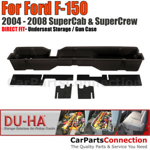 Du ha 20004 Underseat Storage For 04 08 Ford F 150 Supercab Supercrew Black