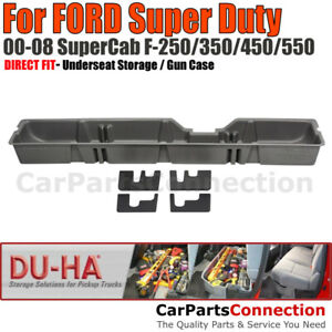 Du ha 20014 Underseat Storage For 00 08 Ford Super Duty All Supercab Dark Gray