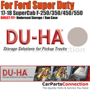 Du ha 20207 Underseat Storage For 17 18 Ford Super Duty All Supercab Light Gray