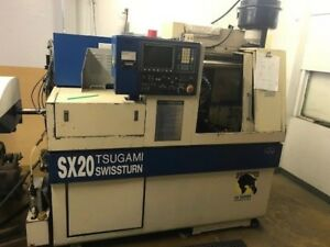Tsugami Sx20 Bs20b Cnc Swiss Screw Machine Lathe Lns Hydrobar Express
