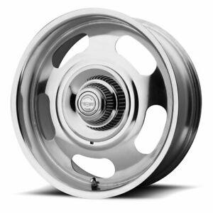 American Racing Vn506 Rally 1pc Rim 17x8 5x4 75 5x5 Offset 0 Polished Qty Of 4