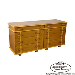 Paul Frankl For Johnson Furniture Station Wagon Dresser 8 Drawer Chest