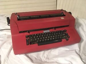 Vintage Ibm Correcting Selectric Ii Electric Business Typewriter Red As Is
