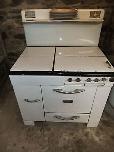 Antique Kalamazoo Porcelain Cast Iron Gas Oven Local Pick Up Series Ab7
