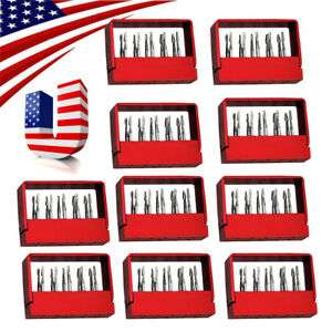 10x Dentist Dental Tungsten Steel Drills Burs For High Speed Handpiece Fg 1957