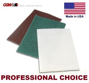 6 X 9 Scotch brite Non woven Surface Conditioning Pads