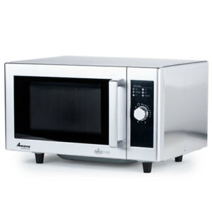 Amana Rms10ds 1000w Commercial S s Microwave Oven 1 Power Level