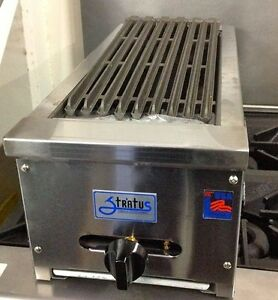 New 12 Lava Rock Char Broiler Gas Grill Stratus Scb 12 Ng 4095 Commercial Nsf