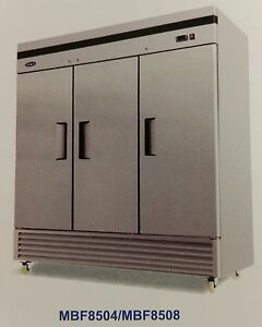 New 3 Solid Door Reach In Refrigerator Atosa Mbf8508 2216 Commercial Cooler Nsf