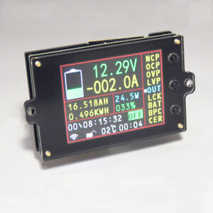 Wireless Voltmeter Ammeter Dc 120v 300a Volt Amp Ah Soc Remaining Capacity Power