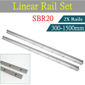 2pcs Sbr12 12mm Linear Rail Slide Guide 300 1500mm Fully Supported Shaft Rod Cnc