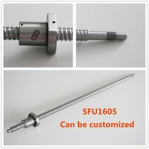 Ball Screw Sfu1605 300 1500mm End Machined Ballscrew W Single Ballnut For Cnc