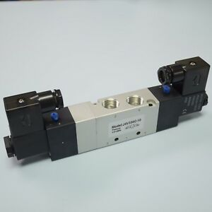 3 8 5 3 Way Electric Control Solenoid Valve Double Coil 4v330c 10 Ac110v