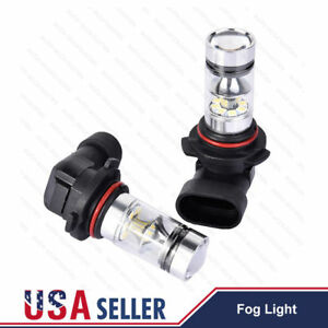 2x 100w 9006 Hb4 High Power Led Cree 6000k Super White Fog Lights Driving Bulbs