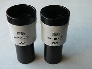 Carl Zeiss Jena Microscope Gf p 10x 20 Eyepieces Pair d 23 2mm