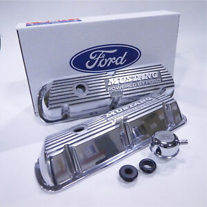 Ford Racing M 6582 F301 Engine Valve Cover Ford 289 302 351w Except Efi Polish