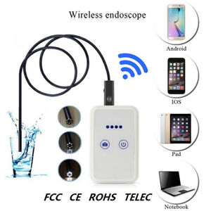 Wifi Endoscope Inspection Camera Snake Usb Pipe Inspection Borescope Hd 8mm Lens