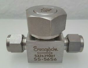 Swagelok New Stainless Steel Lift Check Valve 3 8 Tube Fitting Ss 56s6