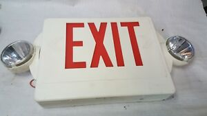 Lithonia Lighting Lighted Exit Sign With Emergency Lighting