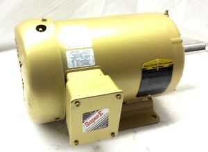 New Baldor 3hp Ac Super e Electric Motor 480v 3 Phase 1760rpm 182tz Frame