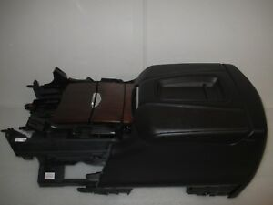 15 18 Gm Cadillac Escalade Oem Black Leather Woodgrain Center Console New